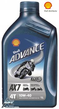 SHELL ADVANCE 4T AX7 10W-40 (VSX 4)   12*1LT